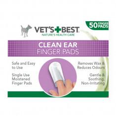 Degetare curatare urechi pentru caini Vet s Best, 50 buc