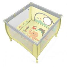 Tarc pliabil Play up galben Baby Design cu inele ajutatoare