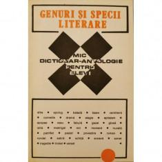 Genuri si specii literare: Mic dictionar-antologie pentru elevi - Irina Petras