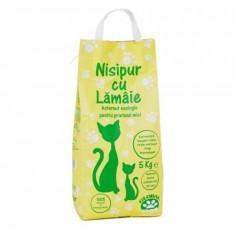 Nisip pentru pisici cu miros de lamaie, Nisipur, 5 kg