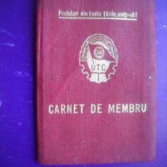 HOPCT CARNET DE MEMBRU UTC UNIUNEA TINERETULUI COMUNIST  ROMANIA 1975 CONSTANTA