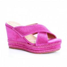 Papuci Sesiva roz cu platforma -rl