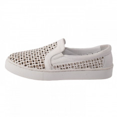Pantofi copii, din piele naturala, marca Hobby bimbo, 17-K2, alb satin