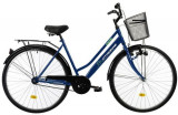 Cumpara ieftin Bicicleta Oras DHS Citadinne 2812, roti 28inch, cadru otel 505mm, frana Torpedou + V-Brake (Albastru)