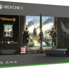 Consola Xbox One X 1TB + The Division 2 (Negru)