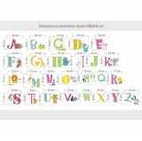 Sticker perete copii Alfabetul Vesel 80 x 54 cm