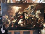 42 Lupta cu armasari, tablou cu cai, reproducere celebra 85x55 cm