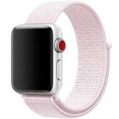 Curea pentru Apple Watch 38 mm iUni Woven Strap, Nylon Sport, Soft Pink