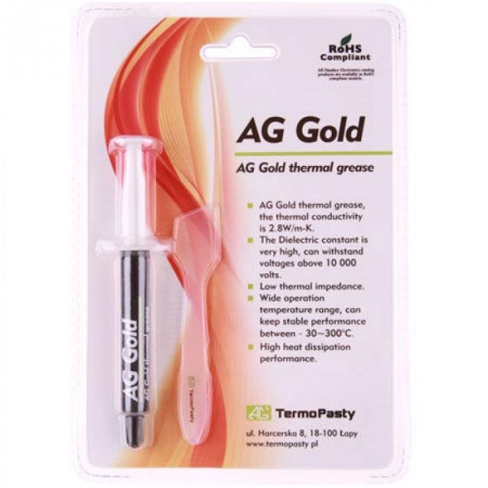 Pasta termoconductoare pe baza de aur Gold AG, 2.8 W/mK, 3 grame