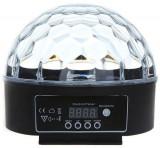Glob proiector LED RGB 18W, control sunet, telecomanda, interior, Oem