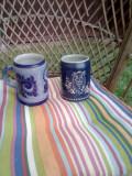 2/Halbe /albastre /ceramica/