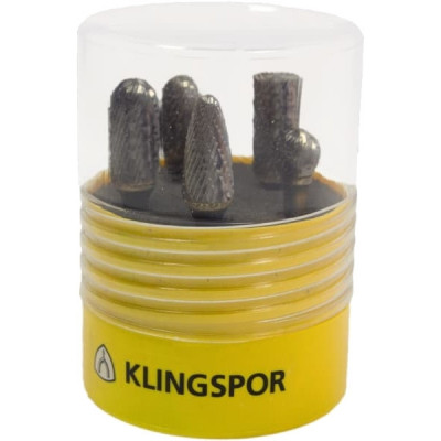 Klingspor - HF 100 Set - Set 5 freze carburi metalice, 6 mm, forma mixta foto