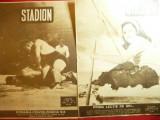2 Reviste Stadion 1947 si 1948 subiecte din Ski ,lupte , fotbal