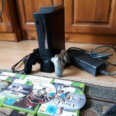 Consola Xbox 360 Elite cu Hard 120GB + 2 manete + 4 jocuri originale