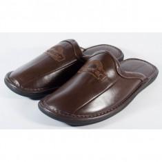 Papuci de casa maro (cod MS028)