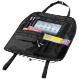 Organizator auto cu loc de tableta, Stac by AleXer, MY01, 210D poliester, negru, breloc inclus