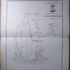JUDETUL COVORULUI  // HARTA CROMOLITOGRAFIATA, 1904