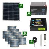Gard electric Animale Sălbatice 6,6J putere cu Sârmă 9000m și Panou Solar