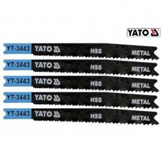 Set 5 lame taiat metal HSS pentru ferastrau pendular 21-16 TPI YATO