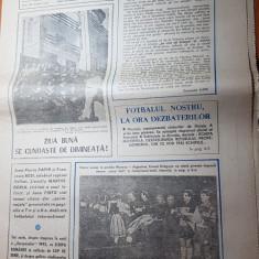 ziarul fotbal 19 ianuarie 1990-petrolul ploiesti,unirea tricolor