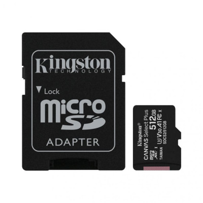 Micro SDXC Kingston Canvas Select Plus, 512GB, Class 10, UHS-I Perform, U1, V10 foto