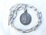 MEDALION argint FECIOARA MARIA vechi OPULENT rar FRANTA 1900 Pe Lant argint | arhiva Okazii.ro
