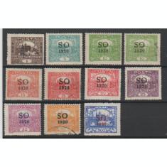 Silezia de Est 1920 - Supratipar pe Cehoslovacia serie dantelata