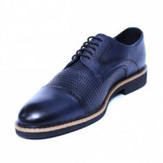 Pantofi barbati din piele naturala, Elvis, Relin, Albastru, 39 EU