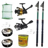 Cumpara ieftin Pachet de pescuit cu 2 lansete eastshark 2.4 m, mulinete si accesorii