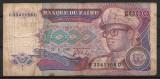 Republica Zair - 1000 zaires - 1989 (B0168) - starea care se vede