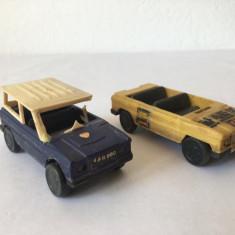 2 masini masinute Aro Faur, jucarie romaneasca, 7 cm, anii 80