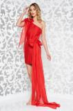 Cumpara ieftin Rochie Ana Radu rosie de ocazie scurta din material usor elastic fara maneci
