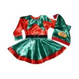 Costum de serbare Spiridus, Elf pentru fetite - jucarie tip Squishy cadou!