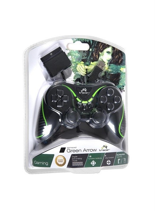 Controller TRACER GREEN ARROW PC/PS2/PS3