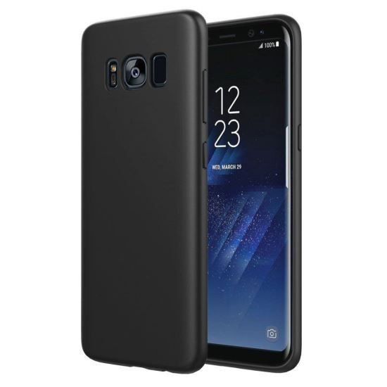 Husa Iberry Super Slim 0,3 mm Negru Matt Pentru Samsung Galaxy S8 G950