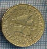 AX 1416 MONEDA -ITALIA-200 LIRE-ANUL1992 EXPOZITIA FILATELIA -STAREA CE SE VEDE, Europa
