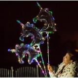 Set 5 Baloane in forma de Unicorn cu LED-uri multicolore, diametru 65 cm