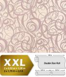 Tapet roz model grafic cu suprafata in relief 971-33