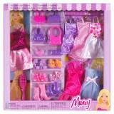 Set de joaca pentru fetite, 6 rochii, accesorii incluse, Oem