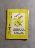 "Carte- Limbajul Pascal- Andrei Stefan(Editia""Notite""enciclopedia de buzunar) #23, 2000"