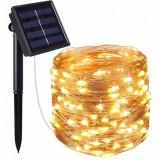 Cumpara ieftin Ghirlanda Luminoasa Decorativa Solara din Cupru 20 m. cu 200 LEDuri