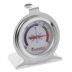Termometru frigider cu interval masurare -50 - 25 °C, carcasa inox cu suport si carlig si gradatie 2.5 gr C, 271186, 6 cm