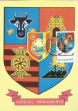 TSV* - MAXIMA MARAMURES - STEMA JUDETULUI HERALDICA `79 STAMPILA 1