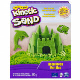 Nisip colorat Kinetic Sand, Verde Neon, 680g