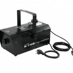 Masina de fum 1250W cu telecomanda, neagra, Eurolite N-110B