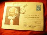 Plic ilustrat - Personalitati - 100 Ani de la moartea lui Karl Marx cod 24/83