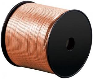Cablu difuzor transparent 2x4.0, 100m pe tambur