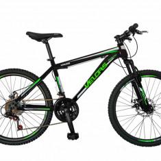 Bicicleta MTB HT 24 FIVE Velar cadru otel culoare negru verde