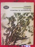 Holderlin, Hyperion Moartea lui Empedocle BPT 913