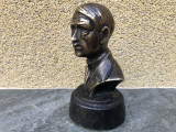 Statueta veche,bust Adolf Hitler,din bronz masiv